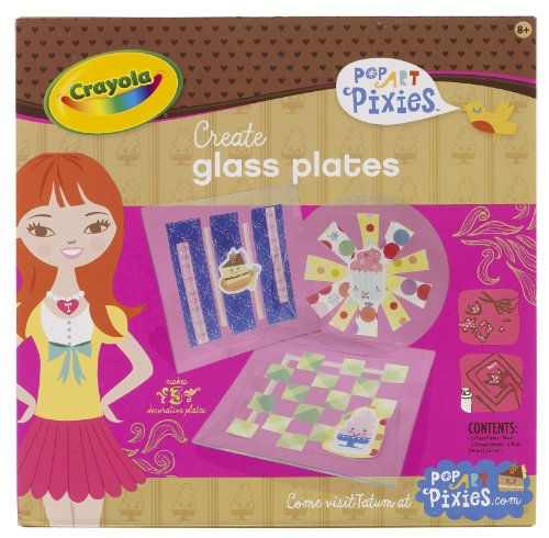 Crayola Pop Art Pixies Glass Plates
