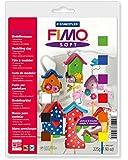 Staedtler 802310 Fimo - Masa suave para moldear (endurece en el horno, 9 bloques de 25 g), varios colores