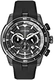 Citizen Watch Ecosphere Men's Quartz Watch with Chronograph Display and PU Strap