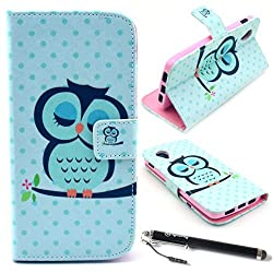 Nexus 5 Case, Speedtek Owl Pattern Premium PU Leather Wallet Flip Protective Skin Case with Magnetic Closure for LG Google Nexus 5 Smart Phone (Built-in Credit Card/ID Card Slot)