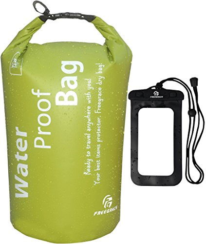 freegrace-ultimate-lightweight-dry-sack-dry-bags-10l-green-and-waterproof-case