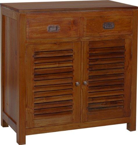 Nomadi Design 500681Credenza con due ante battenti/2cassetti teak 40x 75x 80cm