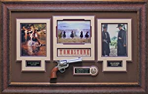 Tombstone Val Kilmer and Kurt Russell Autographed Display by Signature Royale
