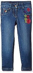 UFO Girls' Jeans (AW-16-DF-GKT-390_Indigo Light_8 - 9 years)