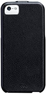 Case-Mate Signature Flip Case for iPhone 5/5S - Black - Retail Packaging - Black