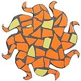 Mosaik-Unterstze-Bausatz-26cm-Orange-und-Gelb-Sonne-Bits