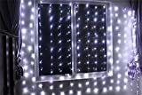 Lemonbest® New 300 LED Window Curtain Icicle Lights String Fairy Light Wedding Xmas Party Garden Hotel Decoration 3mx3m (Pure white)
