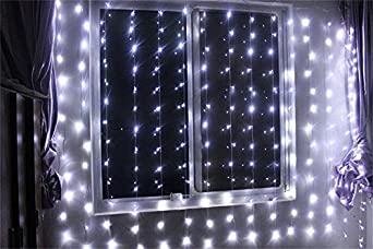lemonbest new 300 led window curtain icicle. Black Bedroom Furniture Sets. Home Design Ideas