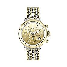 buy Glam Rock Women'S Bal Harbour 40Mm Two Tone Steel Bracelet Steel Case Swiss Quartz Analog Watch Gr77117N