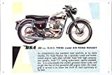BSA A10道路ロケットバイクの金属看板 ティンサイン ポスター / Tin Sign Metal Poster of BSA A10 Road Rocket Motorcycle