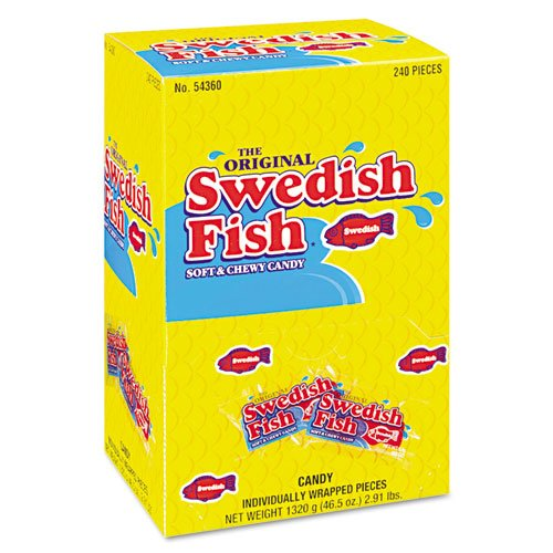 Grab-And-Go Candy Snacks In Reception Box, 240-Pieces/Box, Sold As 1 Box