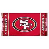 NFL San Francisco 49Ers 30 by 60 Fiber Reactive Beach Towel