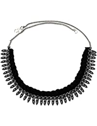 Women Fashion Jewellery New Collection Silver::Black Metal OxidisedDesign Necklace