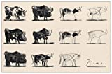 PICASSO - Le taureau (Pannello Decorativo 92x61 cm)