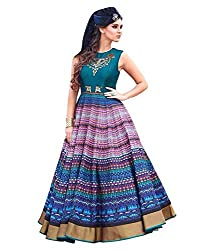 Awesome Banglori Silk Multicolor Navratra Special Gown