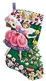 Bucilla Sugar Plum Fairy Stocking Felt Applique Kit, 18-Inches Long, Crafts Direct