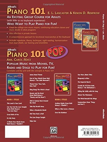 Alfred's Piano 101 Pop, Book 2: Popular Music from Movies, TV, Radio and Stage to Play for Fun!