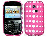 Goldstar Pink Polka Dot Flowers Silicone Gel Case Cover For Samsung Ch@t335 Chat S3350