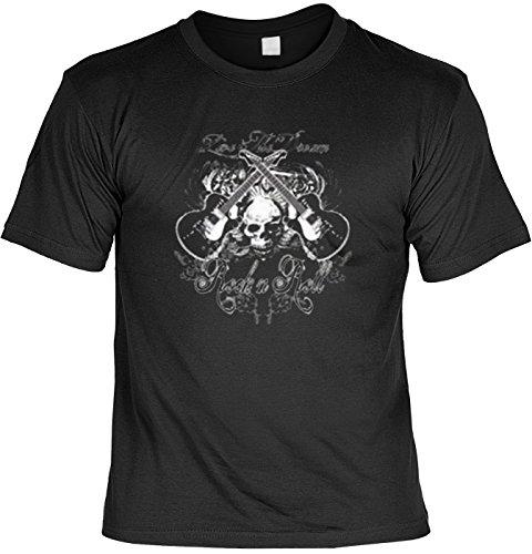 T-Shirt-Rock-Totenkopf-mit-Gitarren-USA-Shirt-mit-Motiv-als-Geschenk-fr-Rocker-mit-Humor