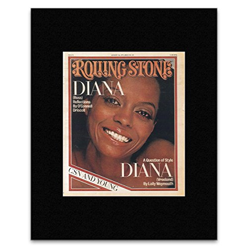 Rolling Stone - Diana Ross 1977 Matted Mini Poster - 19.3X15.9Cm