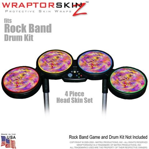 Tie Dye Pastel Skin by WraptorSkinz fits Rock Band Drum Set for Nintendo Wii, XBOX 360, PS2 & PS3 (DRUMS NOT INCLUDED)