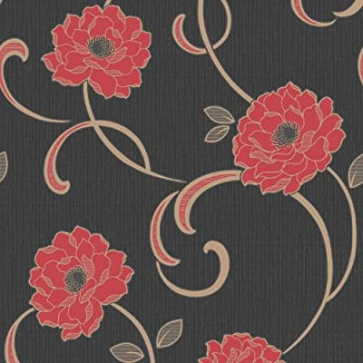 Florentina Floral Print Luxury Vinyl Wallpaper Natural Flower Leaf