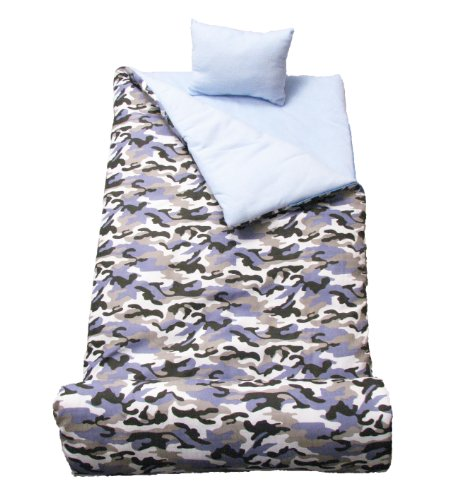 Soho Kids Collection, Blue Camouflage Sleeping Bag front-516368