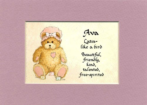 Personalized Baby Name Ava Nursery Wall Decor Keepsake Gift Made In The Usa