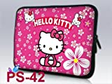 Pink &amp; hello kitty NEW Style design 9.7&quot; 10&quot; 10.1&quot; 10.2&quot; inch Neoprene Laptop Netbook Slab Case Sleeve bag cover pouch For iPad 2, ipad3, ipad4/Asus EeePC 10 transformer/Acer Aspire one/Dell inspiron mini/Samsung N145/Toshiba/Set afire DX/Lenovo S205/HP T
