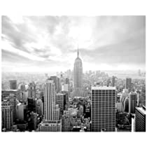 Phoenix Decor MD5A002 10.5-Feet Wide by 8.5-Feet High New York City Skyline Empire Black and White Removable Full Wall Mural