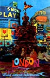 London Piccadilly Circus 1964 - Kuwait Airways vintage travel repro poster A1 - 59.4 x 84.1 cm
