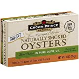 Crown Prince Natural Smoked Oysters In Pure Olive Oil - 3 oz - 3 pk