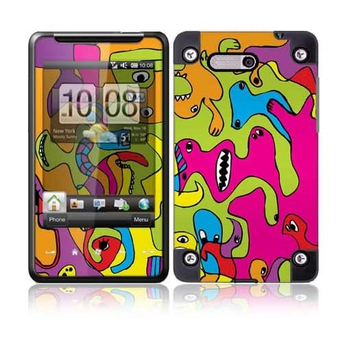Color Monsters Protective Skin Cover Decal Sticker for HTC HD Mini Cell Phone