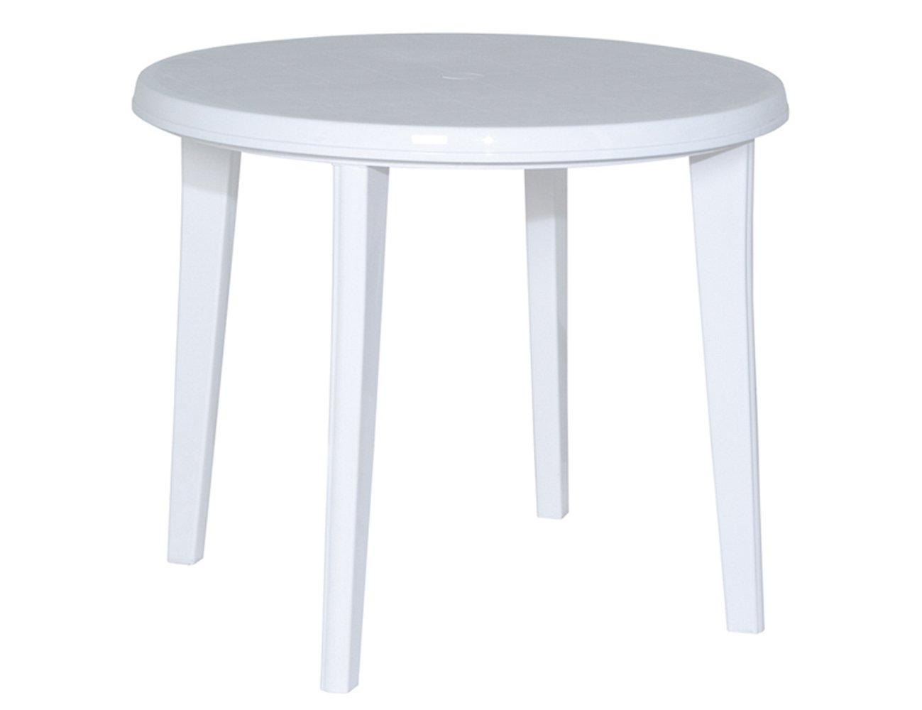 JARDIN 137212 Tisch Lisa, Vollkunststoff ø 90 x H 73 cm, weiß jetzt kaufen