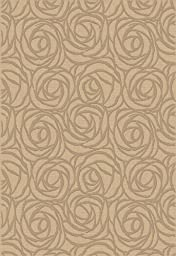 Area Rug, Cream Floral Stain Resistant Carpet, 6\' 7\