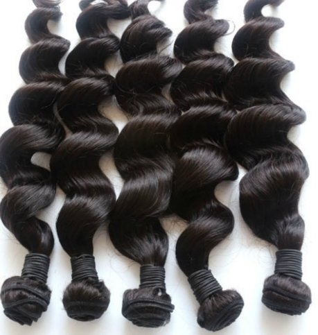 18 inch Brazilian Remy Hair #1B Natural Wave 100% REAL HUMAN HAIR