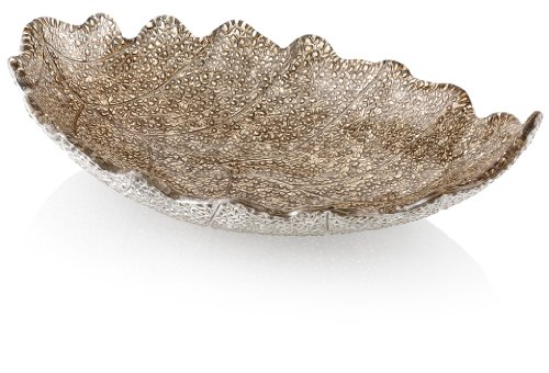 IVV Glassware Madagascar Decorative Centerpiece Bowl, 16-1/2-Inch by 19-Inch