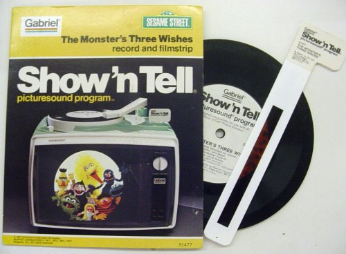 Sesame Street The Monster's Three Wishes Picturesound Program (Record and Filmstrip)