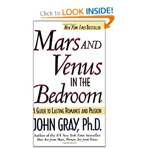 Books: Mars and Venus in the bedroom by by John Gray: cover