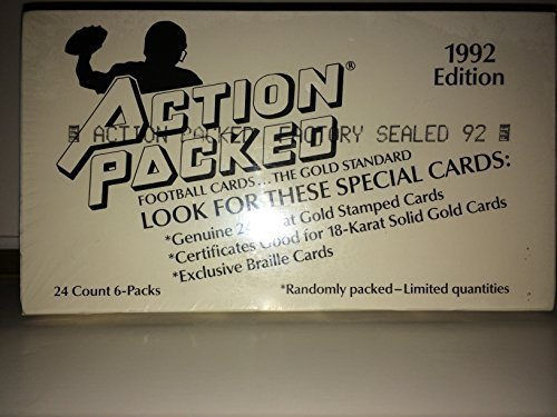 Action Packed Football Cards, 1992 Edition, 24 Count 6-Packs by Action Packed günstig bestellen