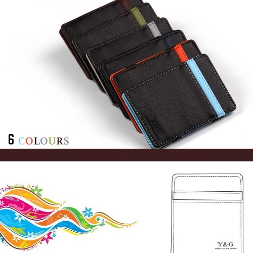 Black designer Magic Wallet and credit card holder wedding Gift mens magnetic money clip 6 color available By Y&G YCM0101