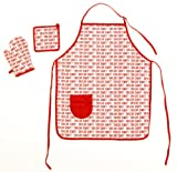 Red Signature 3 pc Apron Set