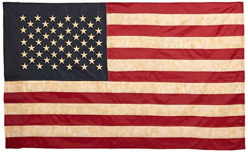 Vintage Look, Tea Stained American Flag  (60x36inches) (Vintage Flag compare prices)