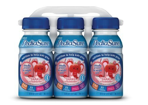 Pediasure Nutrition Drink, Strawberry, 8-Ounce Bottles (Pack Of 24)