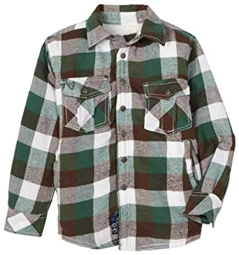 Company 81 Little Boys' Lined Flannel Jacket, Green, 4