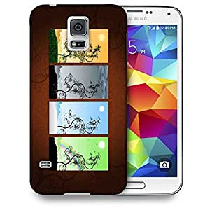 Snoogg Colrful Apttern Image Printed Protective Phone Back Case Cover For Samsung S5 / S IIIII