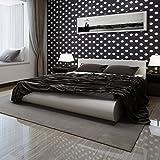 vidaXL Kunstlederbett Doppelbett 140x200cm weiß + Matratze