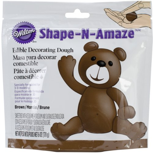 Wilton 707-160 Shape-N-Amaze Edible Decorating Dough, Brown (Edible Dough compare prices)