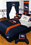 Denver Broncos 4 Pc FULL Comforter Set and One Matching Window Valance/Drape Set (1 Comforter, 2 Shams, 1 Bedskirt, 1 Matching Window Valance/Drape Set) SAVE BIG ON BUNDLING! at Amazon.com