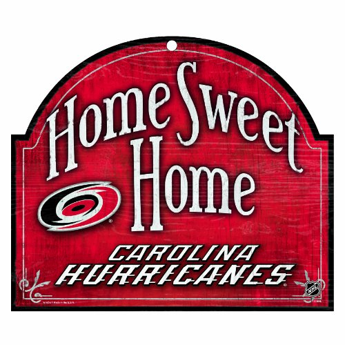 NHL Carolina Hurricanes 10-by-11 inch Wood Sign Home Sweet Home at Amazon.com